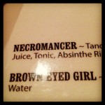 We went to this restaurant solely because it had a cocktail called the Necromancer.